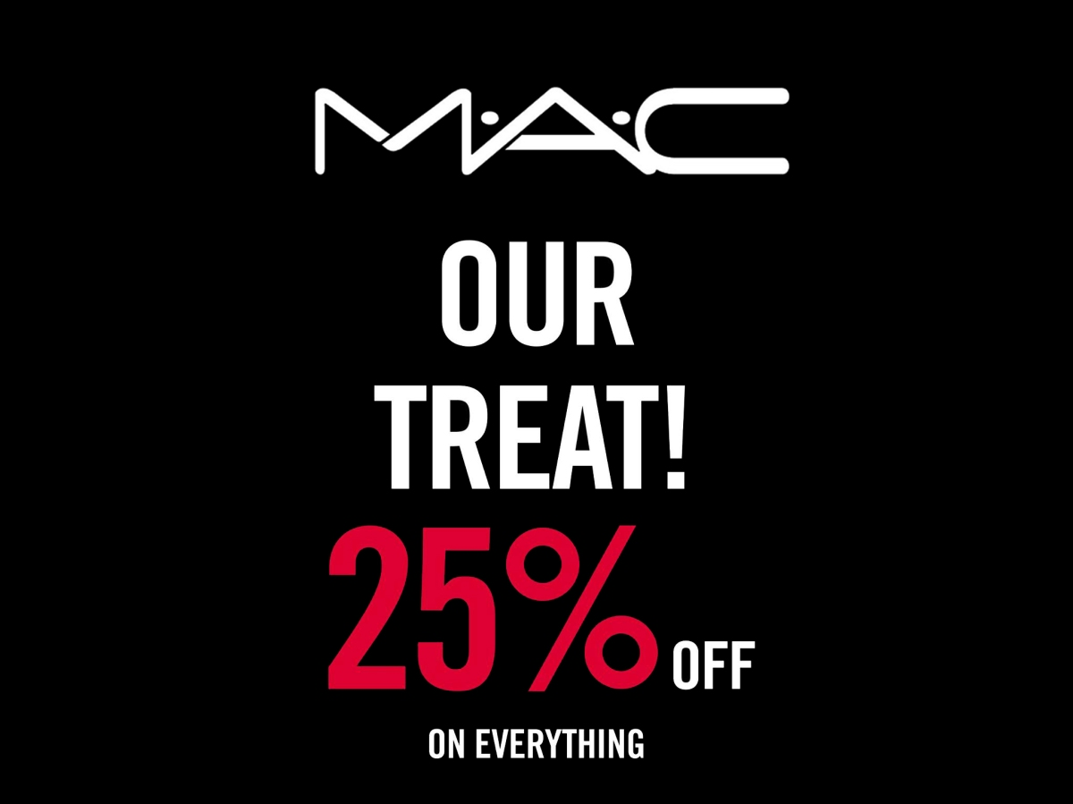 SURPRISE!! 25% DISCOUNT AT M.A.C Cosmetics UAE
